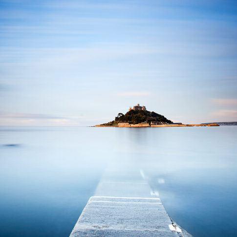 Coast, Cornwall, Sky, Stmichaelsmount, blue, causeway, longexposure, mountain, sea, sunrise, tide, wave