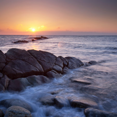 Peverill point, dorset, sunrise, sea, wave, rocks, sunrise, sky, sun, cloud