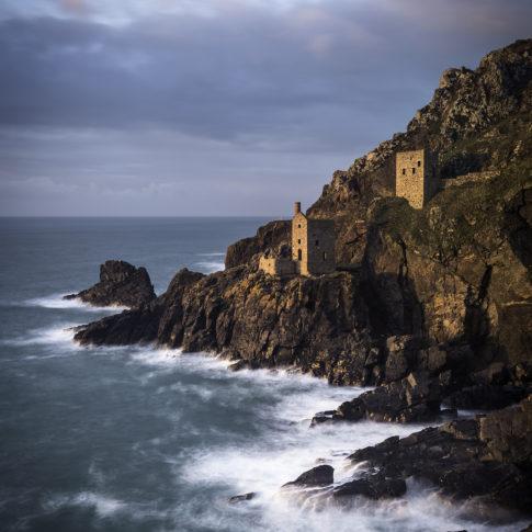 Botallack bay, Cornwall, Sea, Tide, Rocks, Coast, Cornwall, Long Exposure, Cliff, Mine, Tin, Engine Houses