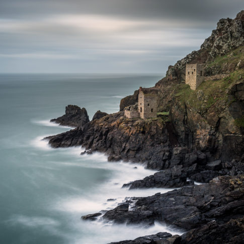 Botallack bay, Cornwall, Sea, Tide, Rocks, Coast, Cornwall, Long Exposure, Cliff, Mine, Tin, Engine Houses
